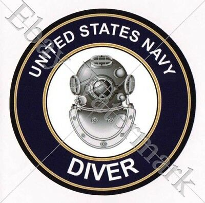 U. S. NAVY DIVER decal sticker Aufkleber Diving scuba Tauchen Tauchsport New