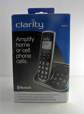 Clarity Cordless Bluetooth Phone BT914 Amplified W/ Answering Machine