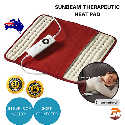 Sunbeam Therapeutic Heat Pad Pain Relief Arthritis Joint Pain Back Electric Heat