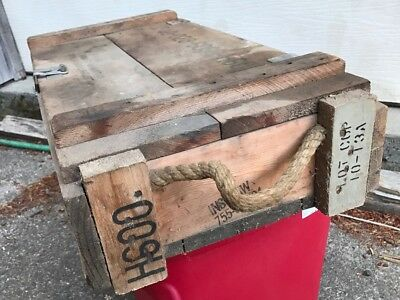 vintage military US ARMY rocket launch launcher explosive wooden box only