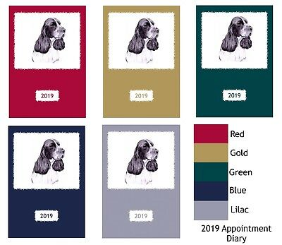 English Springer Spaniel ESS Appointment Diary 2019 A5 Week Per View