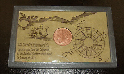 Admiral Gardner Shipwreck Coin - 1808 East India Co 10 Cash