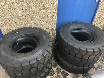 6 of 8.25-15 Industrial Forklift Pneumatic Tyres with tubes & flaps
