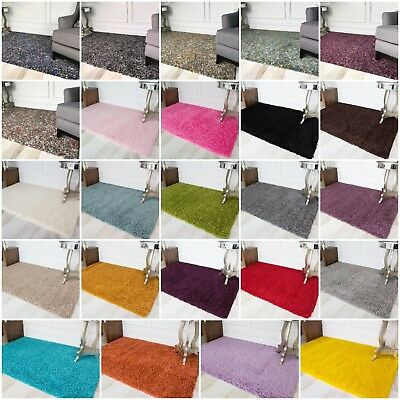 Soft Easy Clean Non Shed Shaggy Living Room Rugs Cheap Cosy Warm Shaggy Rug UK