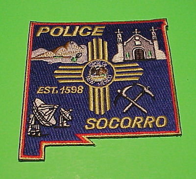 Socorro  New Mexico  Est. 1598  Nm  Police Patch   Free Shipping!!!