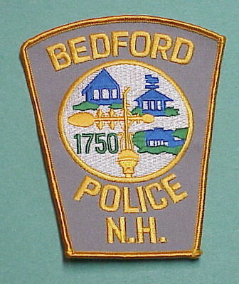 Bedford  New Hampshire  1750  Nh  Police Patch   Free Shipping!!!