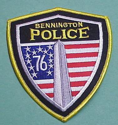 "Bennington  Vermont  Vt  Monument/ ""76""  Flag  Police Patch   Free Shipping!!!"