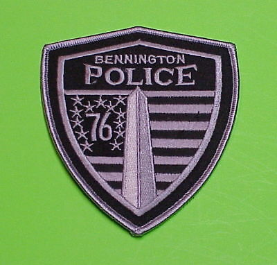 Bennington  Vermont  Vt  Subdued  Police Patch   Free Shipping!!!