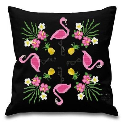 Pink Flamingo Pillow Cover - Mandala - PDF Pattern - Modern Cross stitch - 026