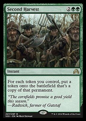 MTG: Second Harvest - Green Rare - Shadows over Innistrad - SOI - Magic Card