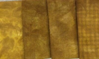 """""""Indian Moon Gold"""" - hand dyed rug hooking wool - (1) Fat Quarter 100% Wool"""