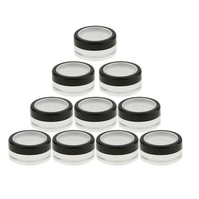 d4c7d575bf6f POWDER SIFTER EMPTY Acrylic Refillable Cosmetic Makeup Jar - 10 ml ...