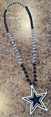 New without tag NFL Licensed Dallas Cowboys Mardi Gras Beads w/ Star necklace