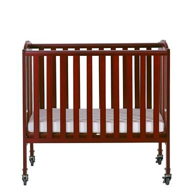 DREAM ON ME 2 In 1 Folding Portable Crib In Natural ...