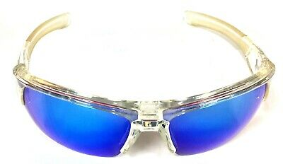 63bd1b542b1 Under Armour Big Shot Multiflection Clear Sunglasses with Blue Mirrored  Lenses
