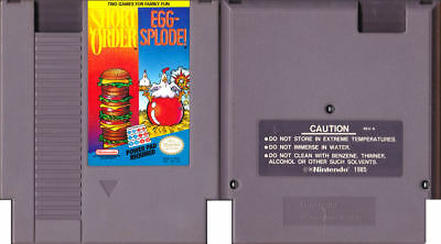 Short Order & Egg-Splode - NES - Tested - Cart Only (Powerpad Reqd not Included)