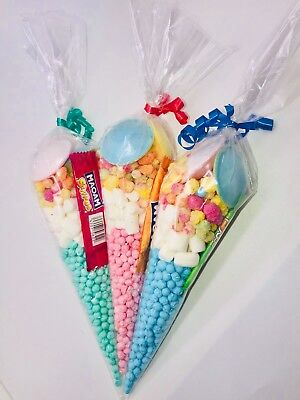 Pre-Filled Girl And Boys Party Sweet Cones Birthday Wedding Millions Rainbow
