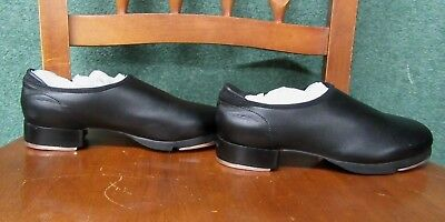 Bloch Tap Jazz Dance Shoes Black leather youth Size 4.5 M slip on unisex