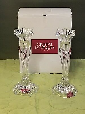 crystal candle holders by Cristal D'Arques
