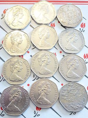 SCARE LARGE/OLD 50p COINS 1969-1970-1994 EX & HIGH GRADE CHOOSE WHICH YEAR HUNT