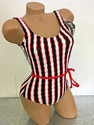 VINTAGE 80s NEVER WORN SWIMSUIT, still w/ tag! One-Piece 1pc Bathing Suit Strip