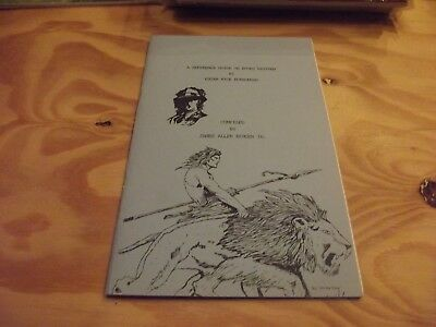 A Reference Guide On Edgar Rice Burroughs Tarzan Books 1987 James Bergen 81 /100
