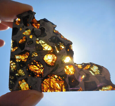 AFFORDABLE / STUNNING 30.3 gram ESQUEL PALLASITE METEORITE, Highly translucent