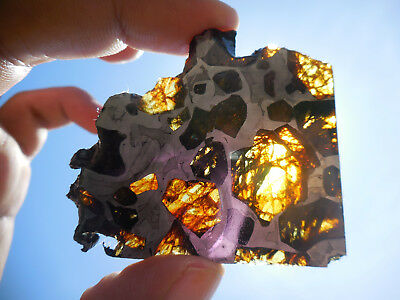 AFFORDABLE / STUNNING 28.0 gram ESQUEL PALLASITE METEORITE, Highly translucent