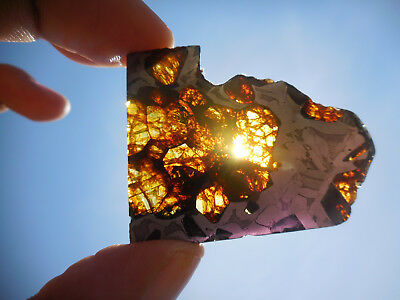 AFFORDABLE / STUNNING 13.9 gram ESQUEL PALLASITE METEORITE, Highly translucent
