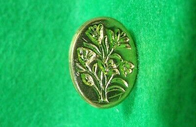 Vintage Brass Bunch of Flowers Sealing Wax Stamp Seal