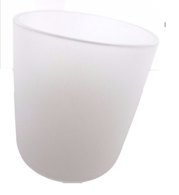 12 x Large Glass Candle Tumblers - Frosted White - Candle Making
