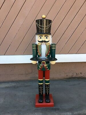 """Large Nutcracker- about 3'8"""" tall."""