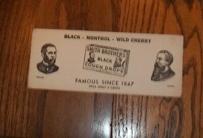Smith Brothers,1900's,Black,Cough Drops,White,Ink Blotter,Good Condition!
