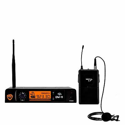 Nady DW-11 Single Transmitter Digital Lapel Wireless Microphone System with QPSK