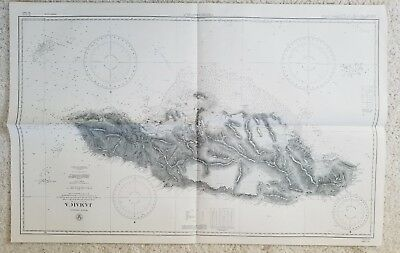 Old nautical map of Jamaica