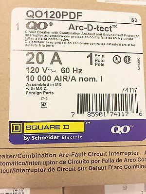 New Square D Qo120Pdf Combo Arc Fault & Gfci Circuit Breaker Lowest Price!