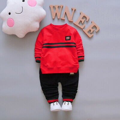Infant Kids Baby Boy Clothes Boys Sets Casual T-Shirt Trousers Long Sleeves Tops