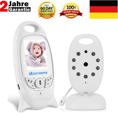 Baby Video Audio Monitor drahtlos Babyphone mit Kamera Babyviewer Nachtsich-weiß
