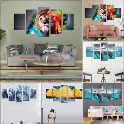 HD Printed Canvas Oil Painting 5 Piece Wall Art Hanging Pictures Home Room Decor