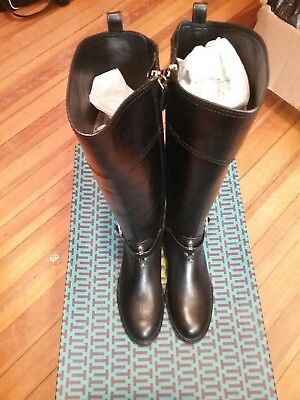 e765e32d77e Tory Burch Marlene( Black 001)Riding Boot finni veg Leather Size( 5 M