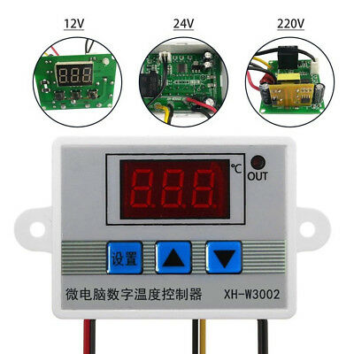 XH-W3002 DC 12/24V AC 220V Digital LED Temperature Microcomputer Thermostat