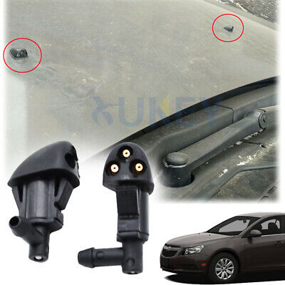 2PCS/Set Front Windshield Wiper Washer Jet Nozzle Fit For Chevrolet cruze 08-14