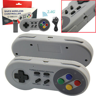 2.4G Wireless Handle Controller Gamapad for Super Nintendo SNES Classic Edition