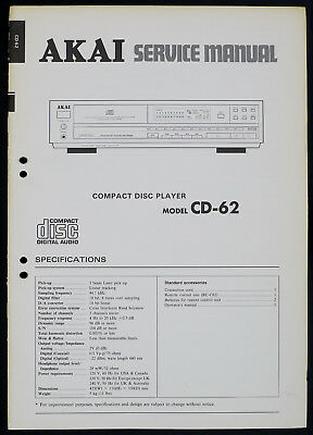 AKAI MODEL M9  OWNERS /&  SERVICE MANUAL ON A CD WITH FREE SAME DAY SHIPPING