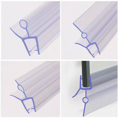 0.5M Shower Screen Seal Strip For 4-6mm Curved  Flat Glass Bath Door 10-21mm Gap