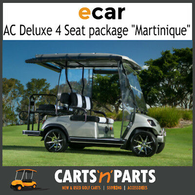 "Ecar AC POWER DELUXE 4 Seat NEW GOLF CART Buggy ""MARTINIQUE"" Full Deluxe Package"