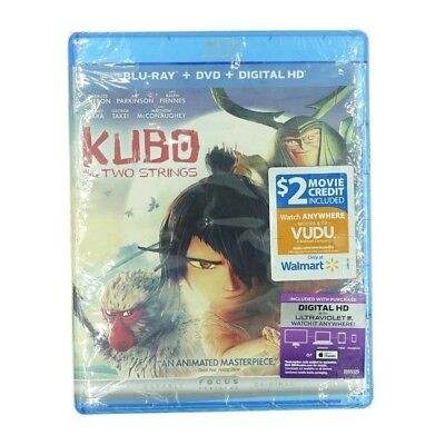 Kubo and the Two Strings (Blu-ray, DVD, Digital HD, 2016, 2-Disc Set)