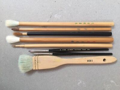 Variety of Asian calligraphy brushes
