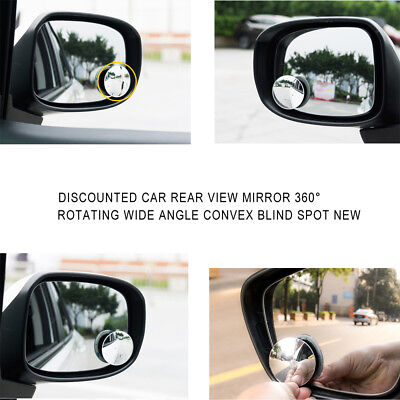 "2"" Car Round Stick On Rear-view Blind Spot Convex Wide Angle Mirror Safe Driving"
