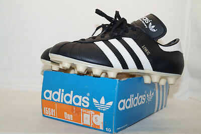 Adidas vintage Fussballschuhe UWE 80er EU.38 UK.5  BOX WEST GERMANY Made black